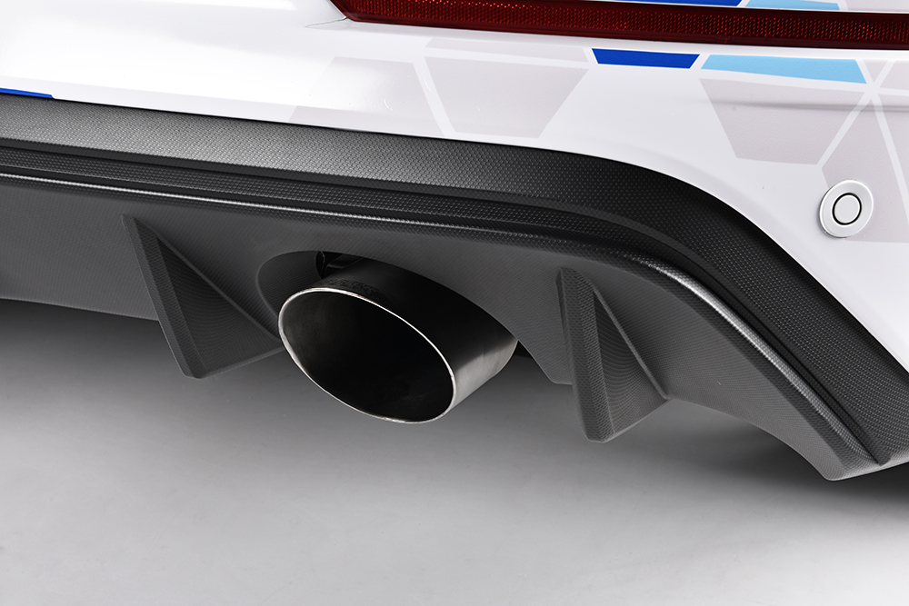 Milltek Sport Cat-Back Exhaust Installed on Ford Focus RS - Close Up