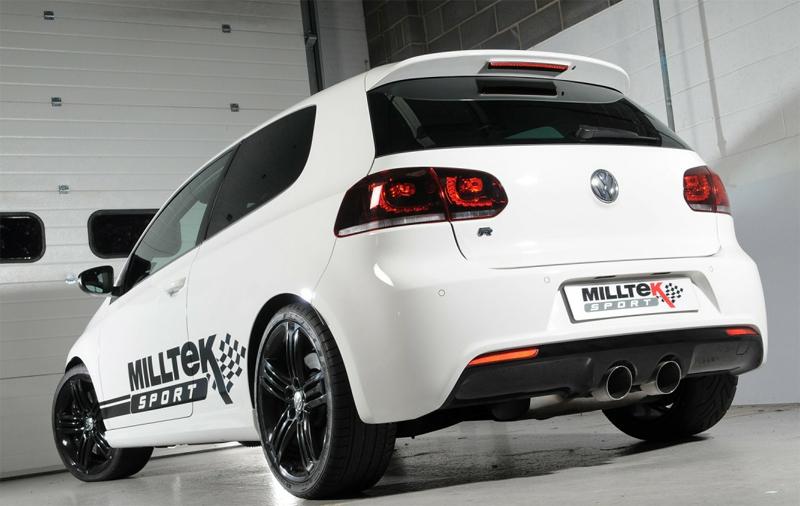 Milltek Catback Exhaust for VW MK6 Golf R Installed