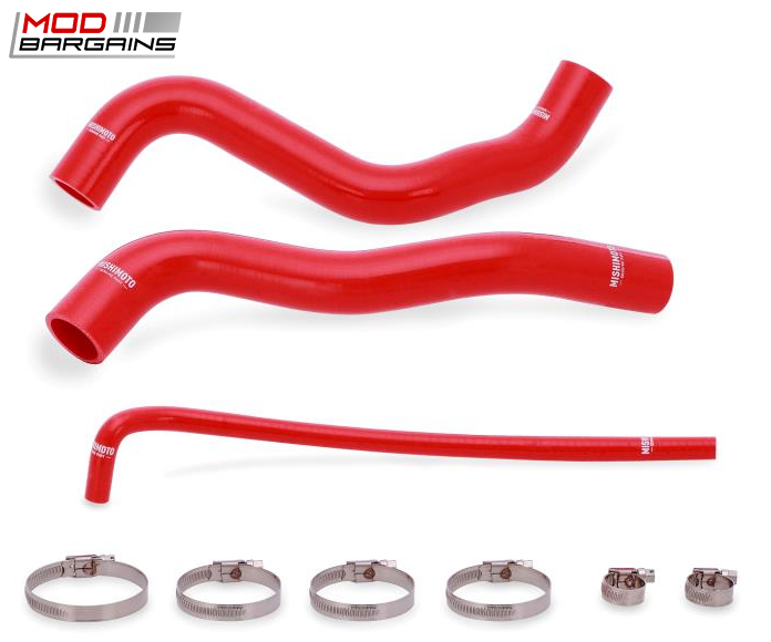 Mishimoto Silicone Coolant Hoses in Red - MMHOSE-CSS-12