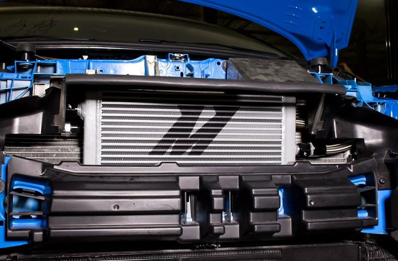 Mishimoto Oil Cooler Installed on Ford Focus RS
