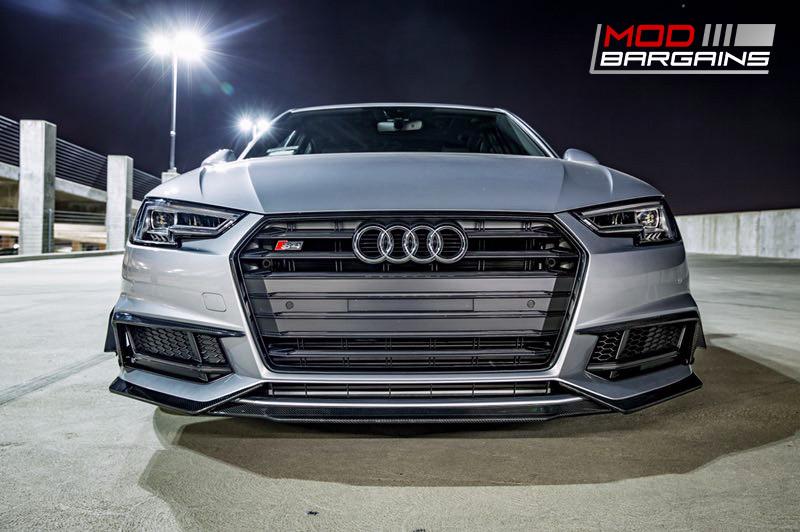 2016+ Audi A4 S4 B9 Morph Auto Design Carbon Fiber Upper Valance GT Canards