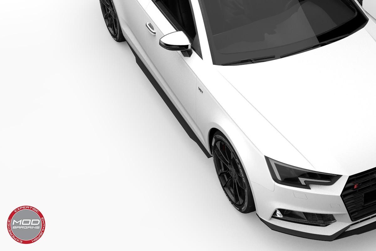 2016+ Audi A4 S4 B9 Morph Auto Design Carbon Fiber Side Skirts Render