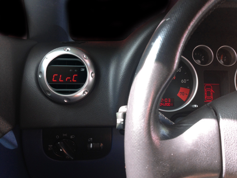 P3Cars Vent Integrated Digital Interface for Audi TT Mk1