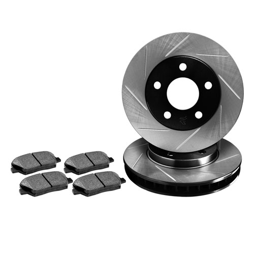 R1 Concepts Premier Slotted Rotors + Pads