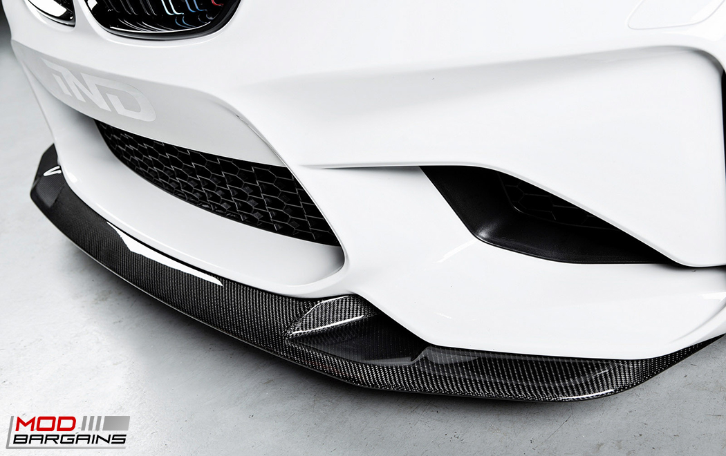 RKP Carbon Fiber Front Close Side View on 2016 BMW M2 F87