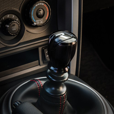 Raceseng Apex R Shift Knob Black Installed