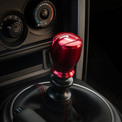 Raceseng Apex R Shift Knob Red Installed