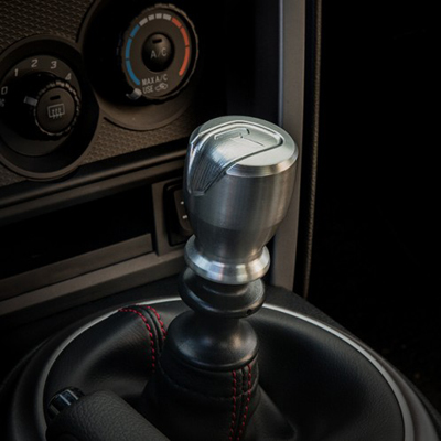 Raceseng Apex R Shift Knob Silver Installed