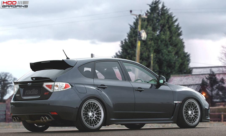 Radi8 R8A10 wheels installed on Subaru