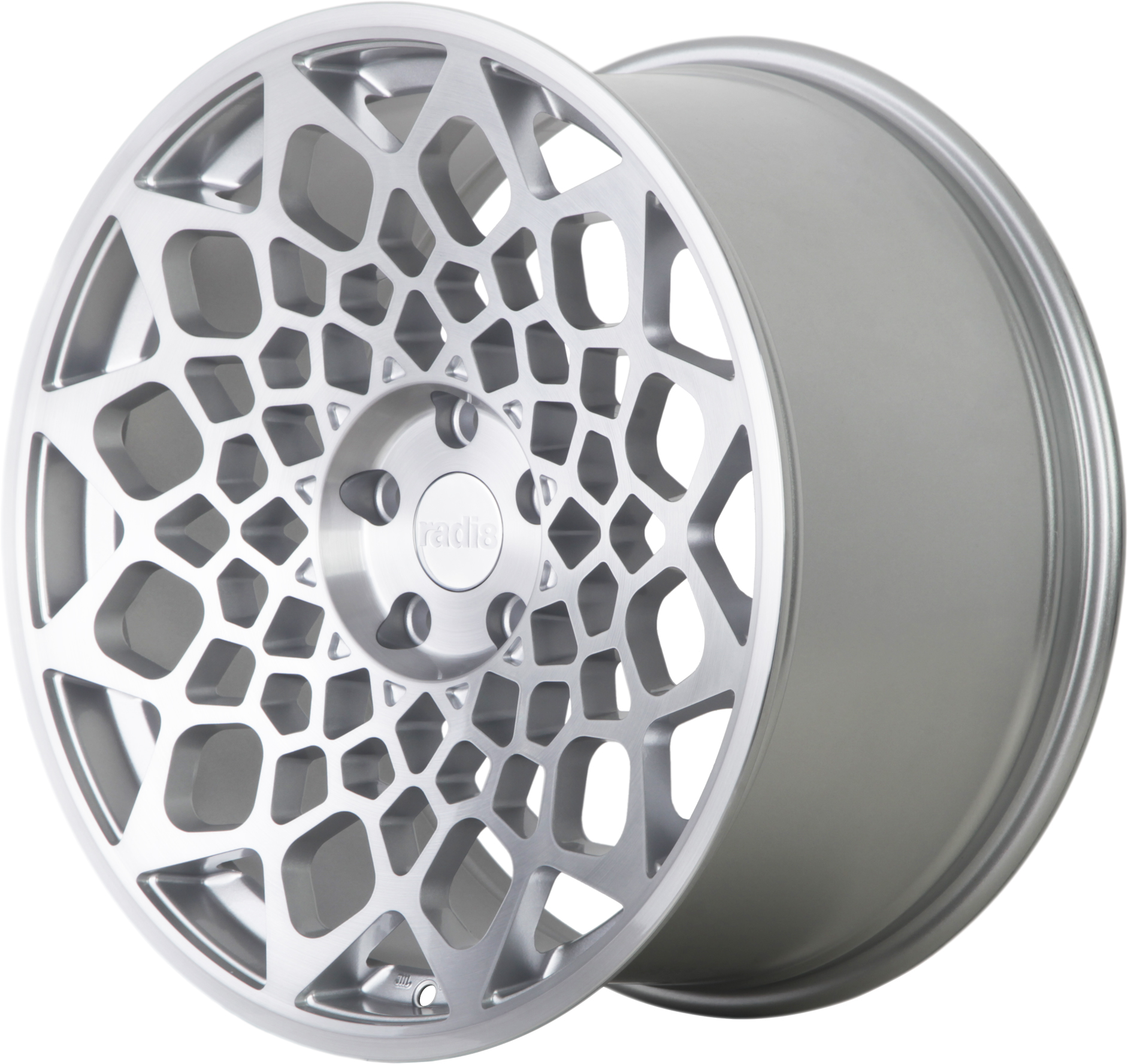 Radi8 R8B12 wheels in Matte Silver for Chevrolet