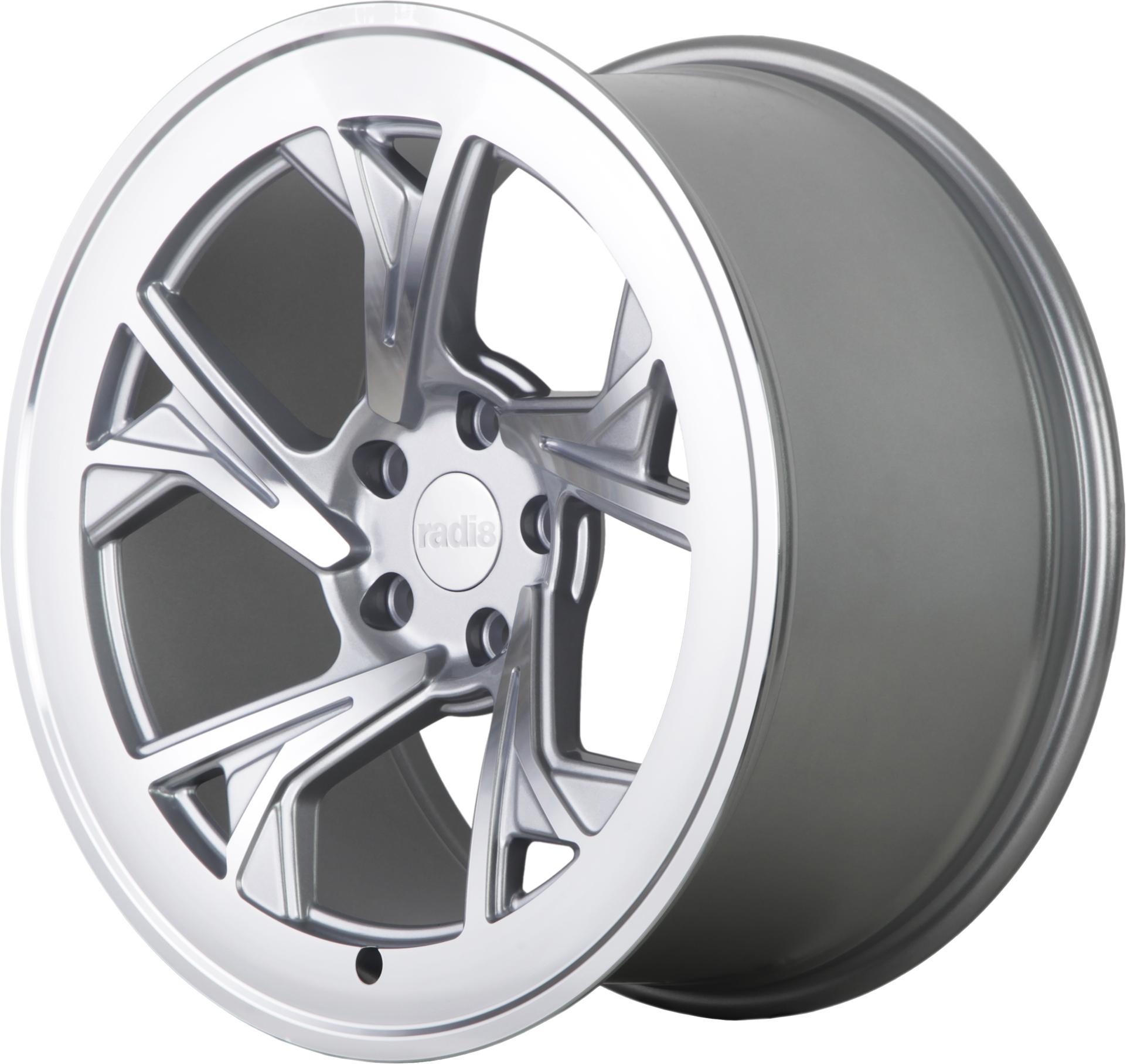 Radi8 R8C5 wheels in Matte Silver for Subaru