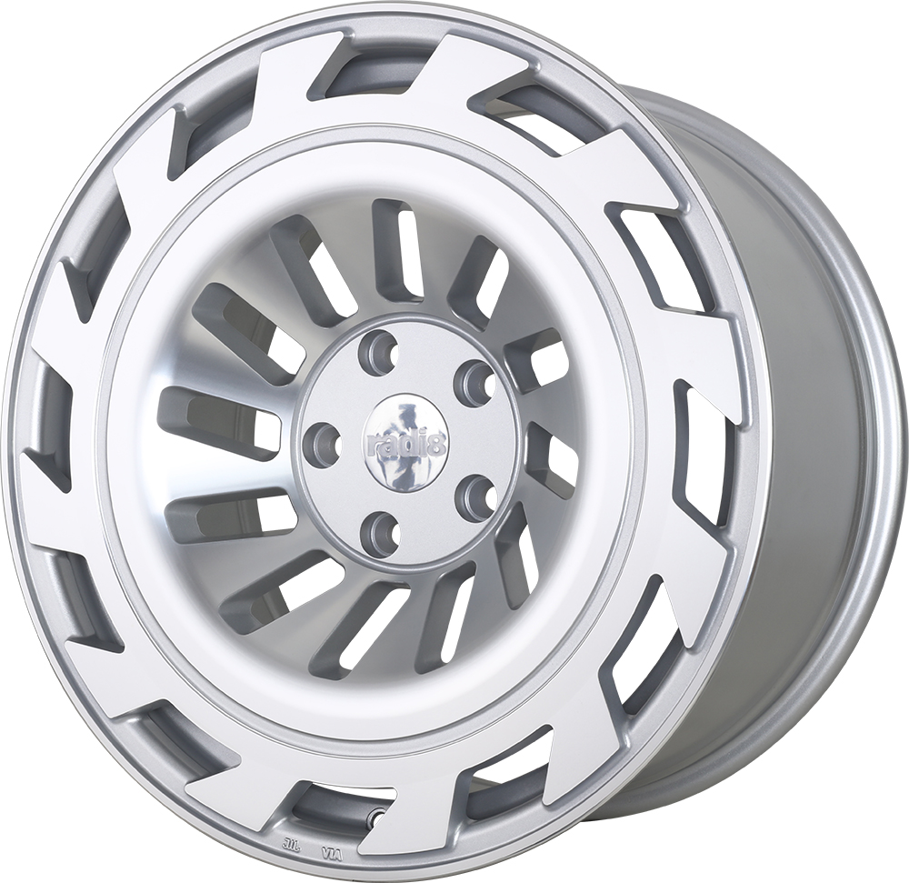 Radi8 R8T12 wheels in Matte Silver for Mercedes Benz