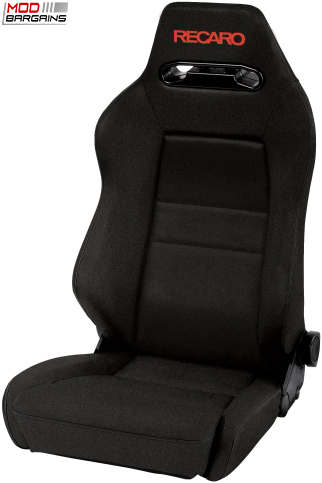 Recaro Speed S Black Avus w/ Red Logo