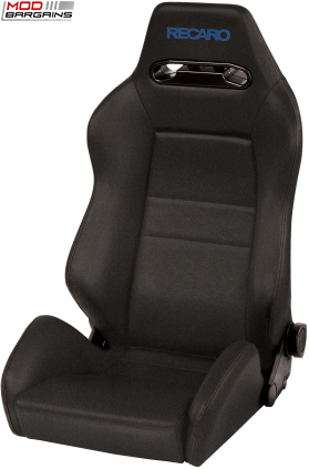Recaro Speed Black Avus w/ Blue Logo