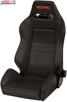 Recaro Speed Black Avus w/ Red Logo