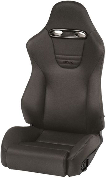 Recaro Sport Topline in Black Vinyl/Red Suede