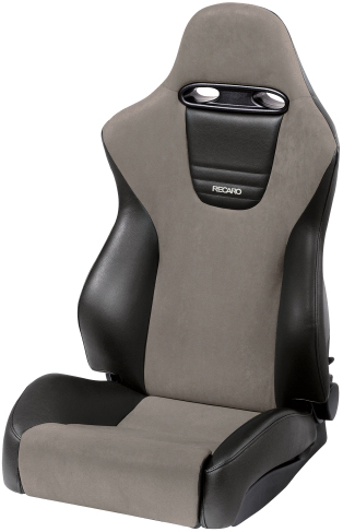 Recaro Sport in Black Vinyl/Grey Suede
