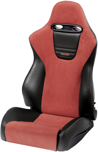 Recaro Sport in Black Vinyl/Red Suede