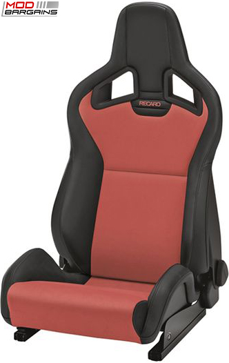 Recaro Sportster CS in Black Vinyl/Red Alcanterra Suede