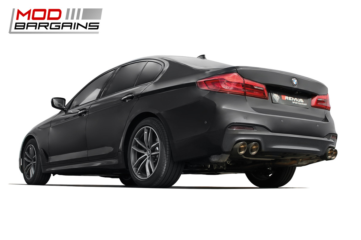 Remus Exhaust Axle Back Cat Back BMW G30 M550i xDrive Stainless Steel Performance Valved