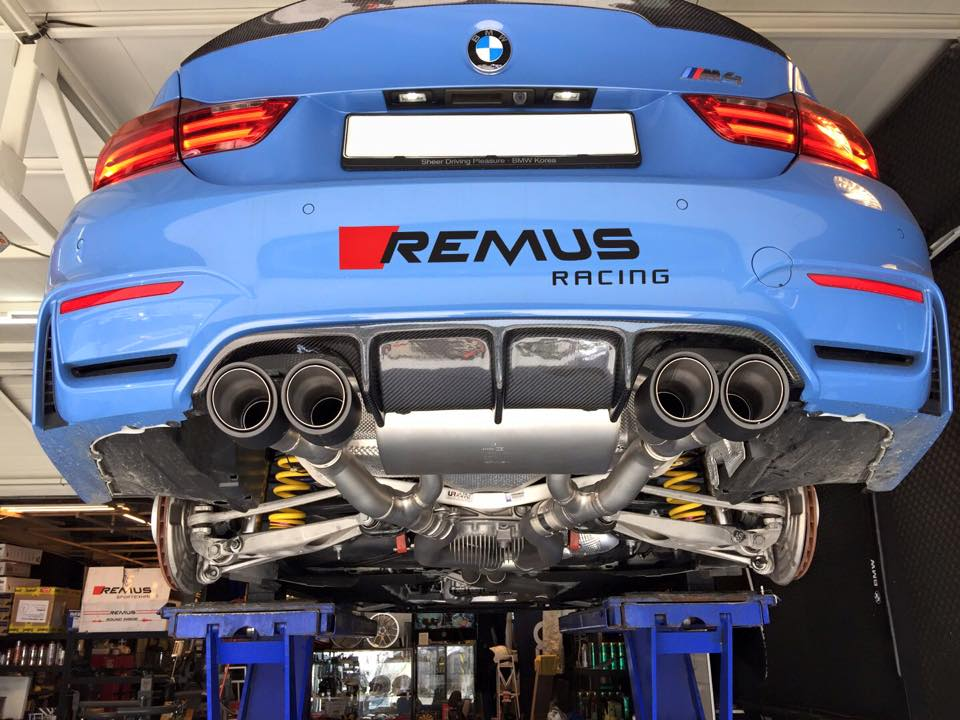 Remus Sport Cat Back Exhaust For 2014 16 Bmw M3 M4 F80 F82