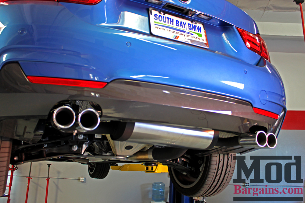 Remus Exhaust for BMW 428i Quad Exhaust with Polished Tips at ModBargains.com Installed 3