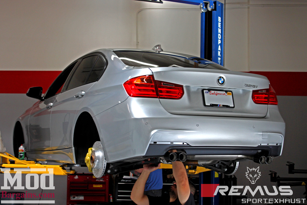 Remus Axle Back Exhaust for 2012+ BMW 328i/428i [F30/F32] Quad Tips