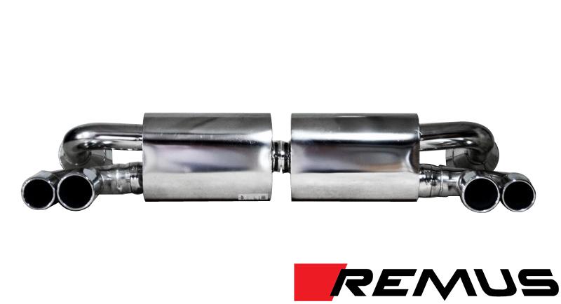 Remus Sport Exhaust w/ Quad Tips for Porsche 911 Turbo/GT2