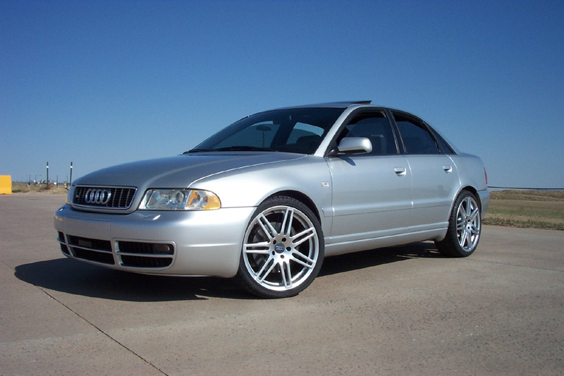 Audi RS4 Style Wheels Hyper Silver on Audi A4