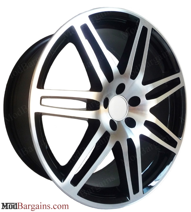 Audi Rs4 Style Wheels 18 Black W Machined Face