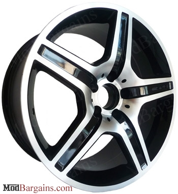 Mercedes-Benz S55 AMG Style Wheels 18 inch (Black w/ Machined Face)