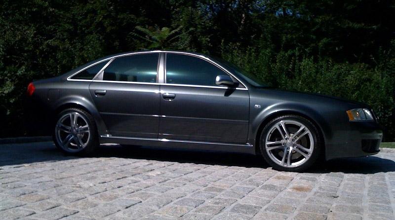 Audi R8 Style Wheels on Audi S4 Passenger Side