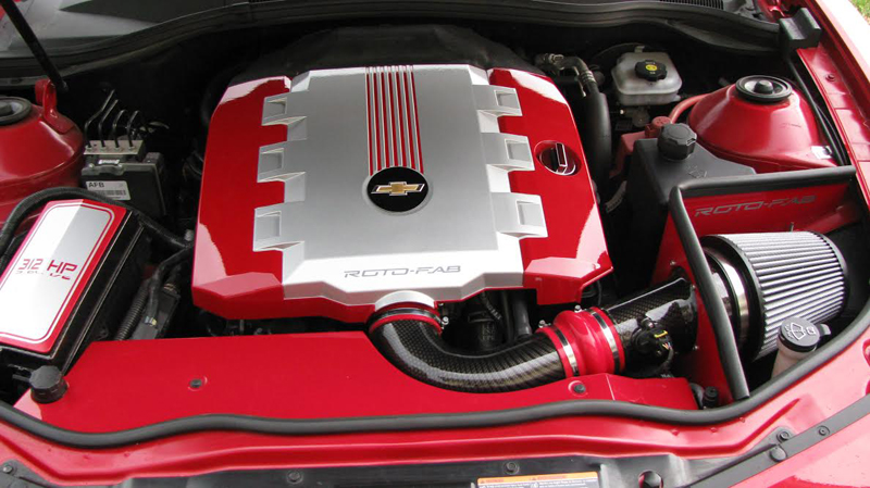 Roto-fab Carbon Fiber Finish Intake Example