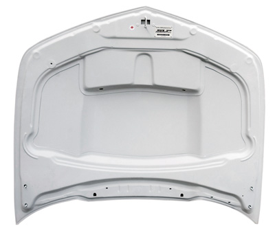 SLP RTM Hood with Functional Scoop and Grill Unpainted Bottom View