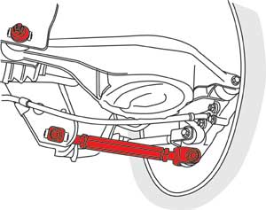 SPC Rear Adjustable Camber Arms - Illustration