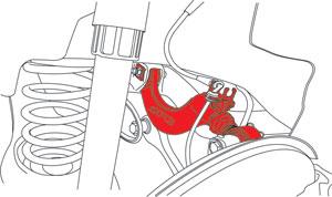 SPC Adjustable Rear Camber Arm - Illustration