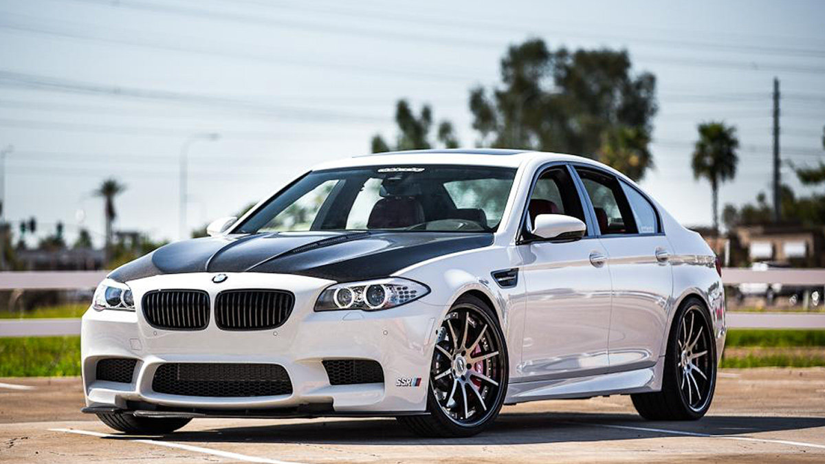 m5 f10 bmw bimmer lowered SSR CV01S weelss, modbargains