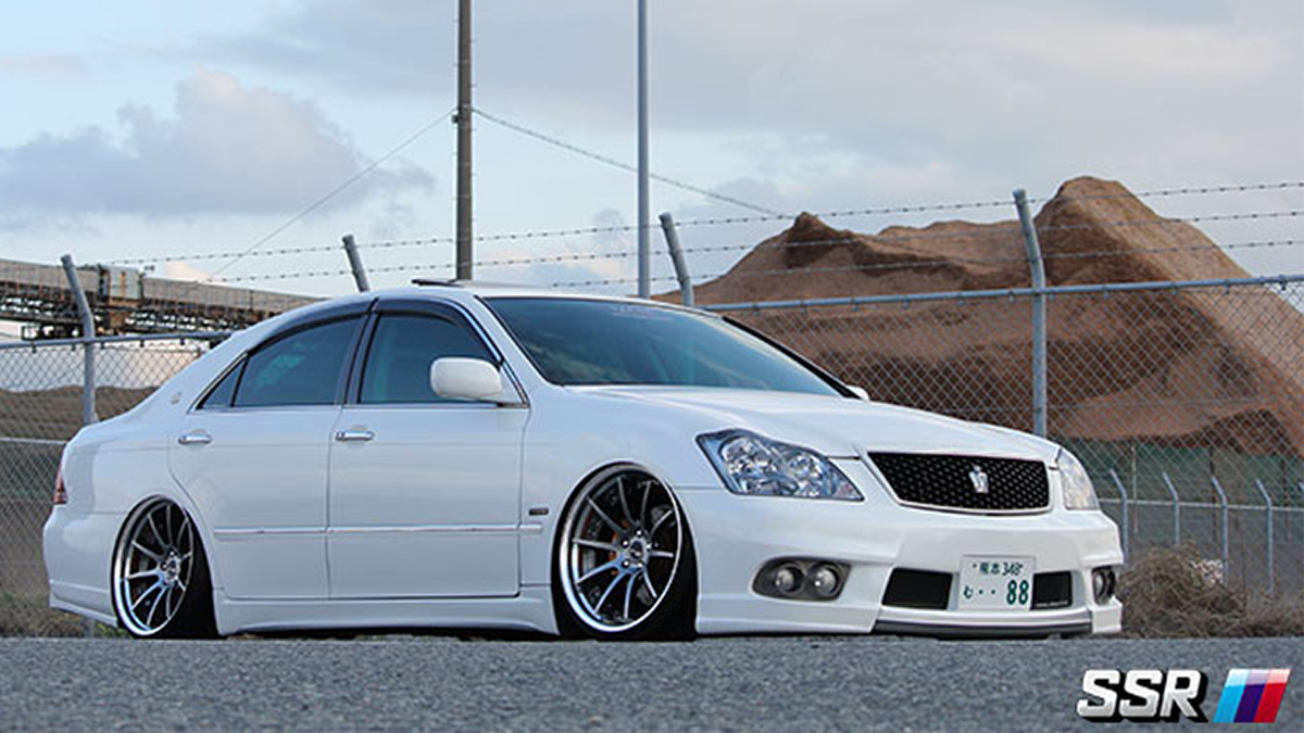 toyota crown in ssr cv01s wheels lowered stance, modbargains