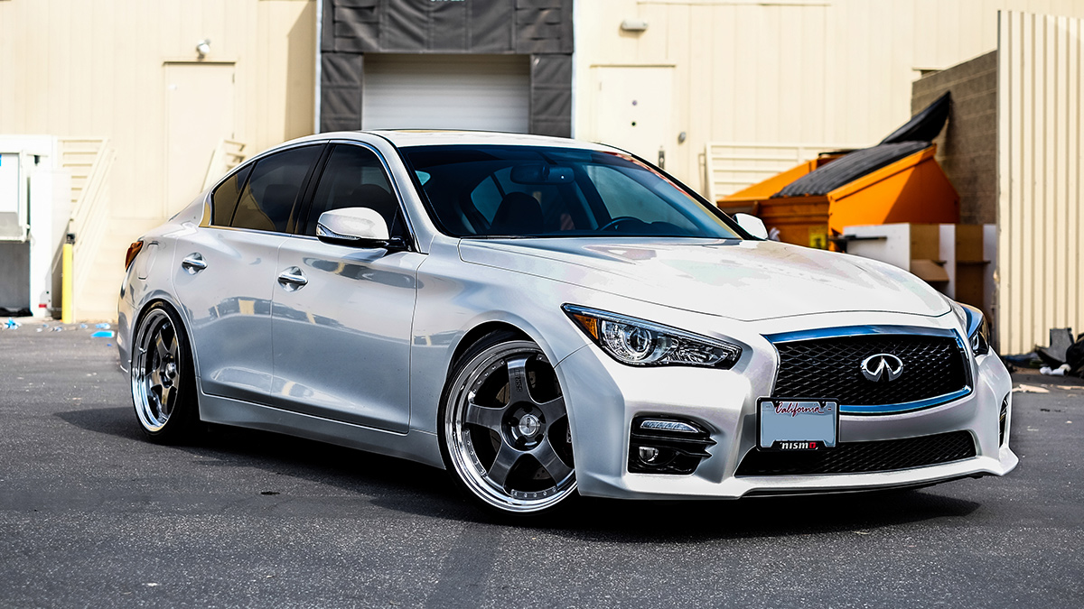 Silver SSR SP1 wheels q50 turbo 3.2 lowered stance, modbargains