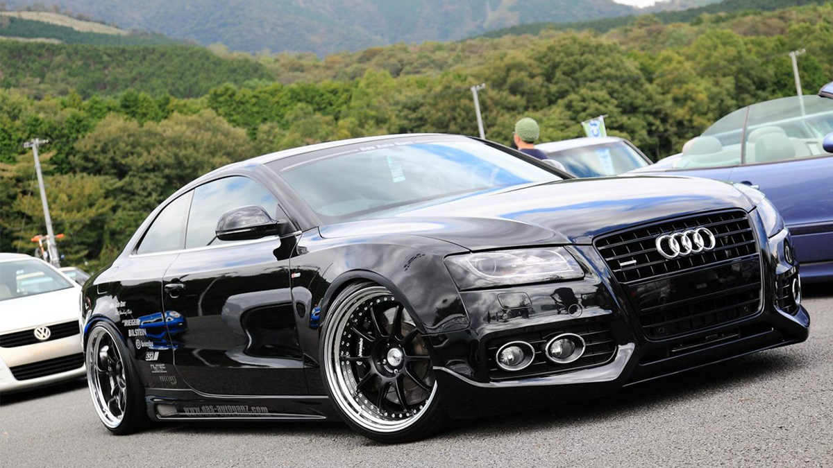 Audi A5 S5 RS5 sline lowered on ssr sp3 wheels, black Modbargains