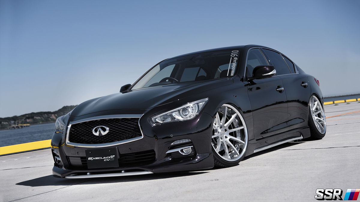 Infiniti Q50 on 20 inch SSR CV01, modbargains