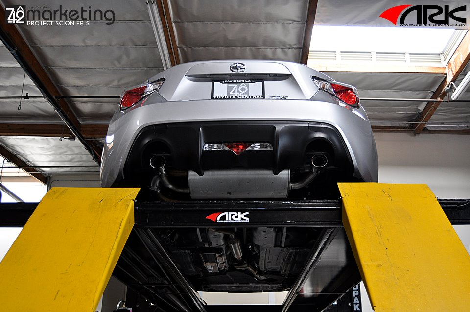 ARK GRIP Cat Back Exhaust Installed (2)
