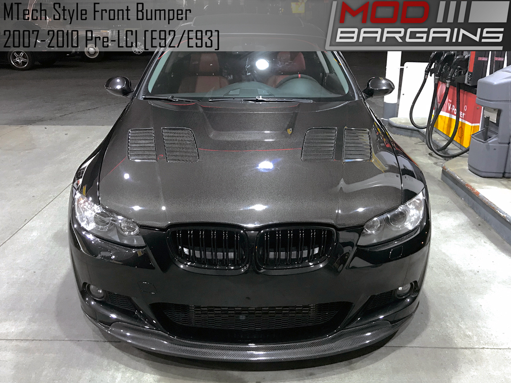 MTech Style Front Bumper for 2007-13 BMW 3-Series Coupe/Vert