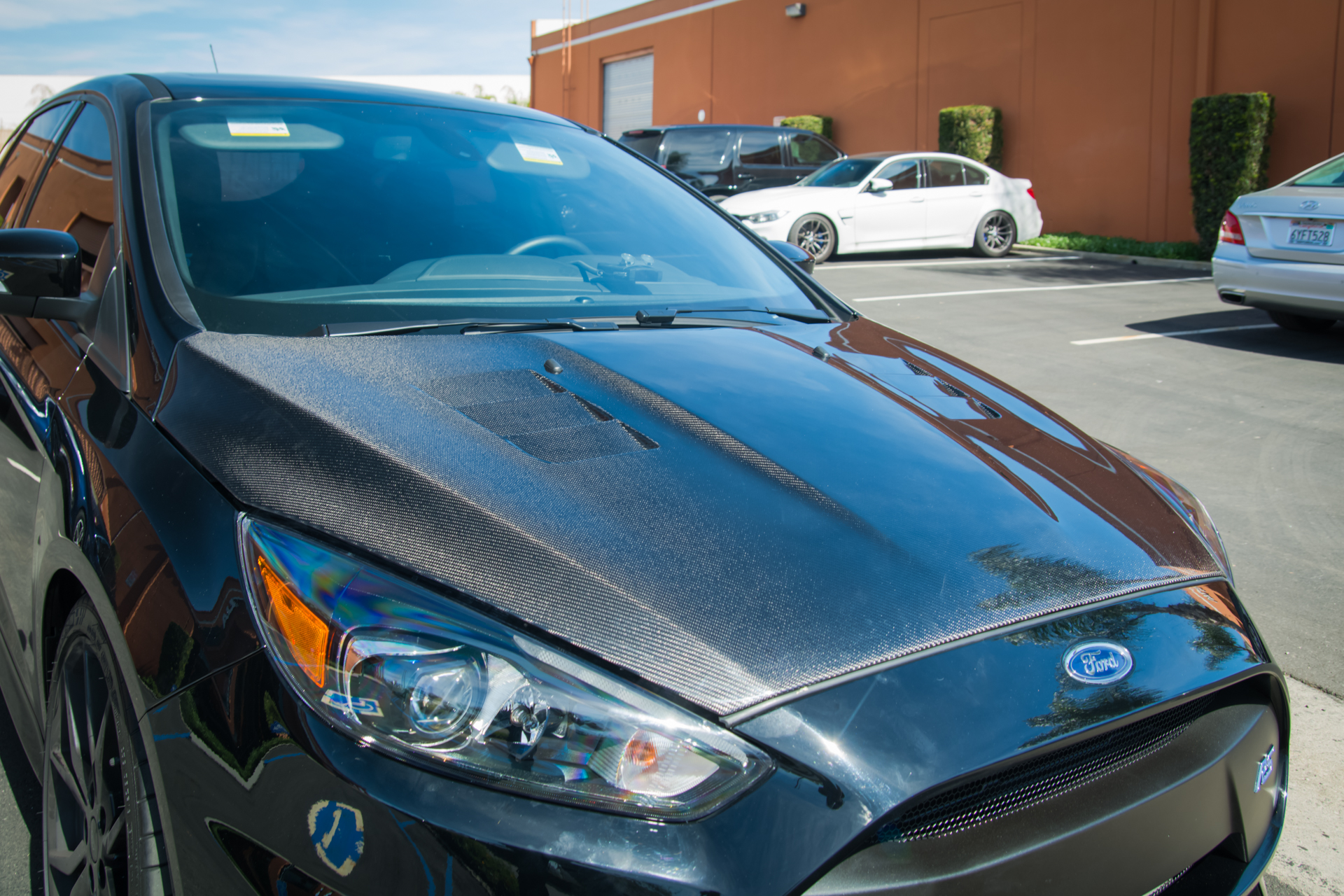 Seibon Carbon Fiber TS-Style Hood for Ford Focus (4)