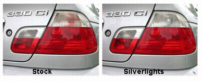 Rear View of Stock vs Silverlights