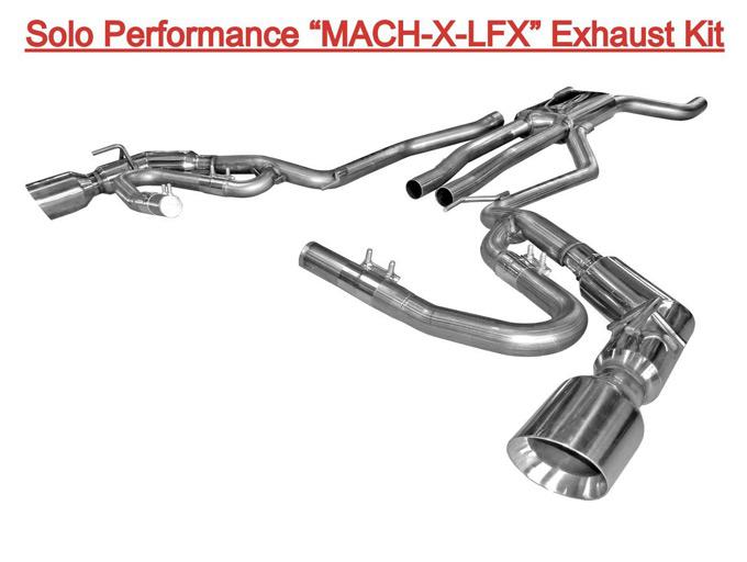 Camaro V6 Solo Performance X-LFx Cat Back Exhaust