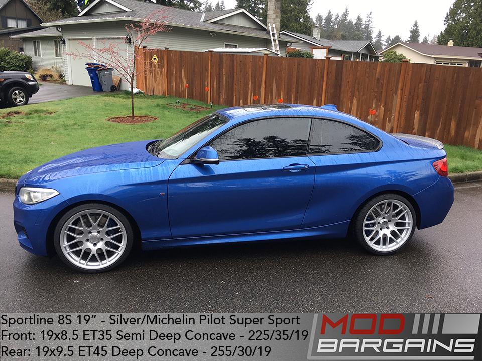 Sportline 8S 19in Silver Wheels on BMW M235i