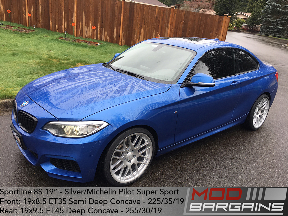 Sportline 8S 19in Silver Wheels On BMW M235i