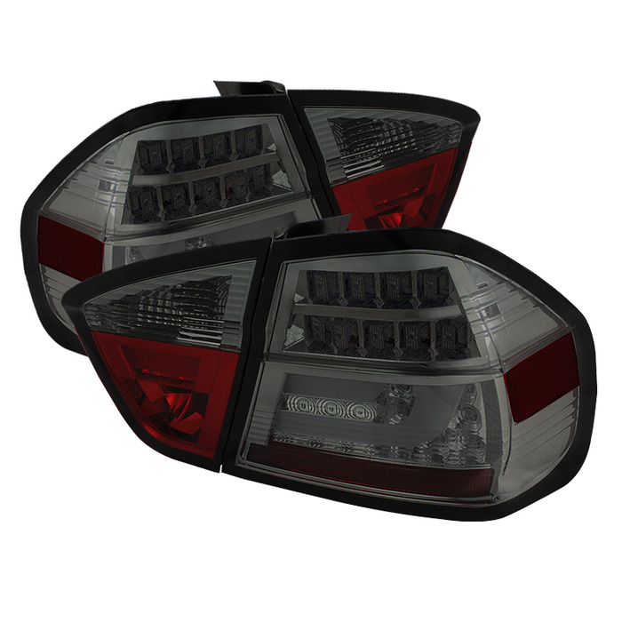 Spyder Smoked Lightbar Style LED Tail Lights For 2006-2008