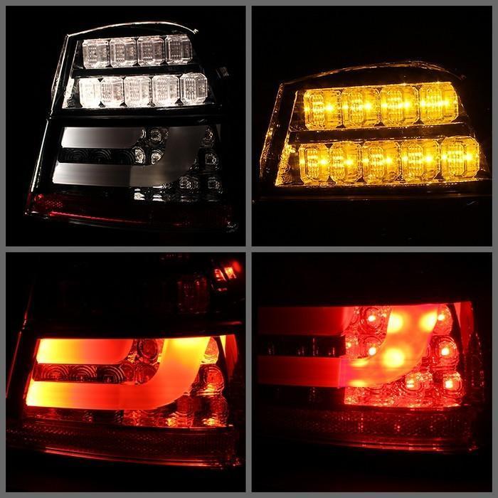 Spyder Smoked Lightbar Style LED Tail Lights for 2006-2008 E46 BMW 325i/ 328i/ 330i Sedan ALT-YD-BE9006-LBLED-G2-SM